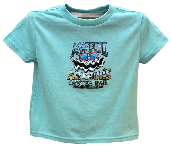Toddler Happy Beach Oyster Turquoise Shirt