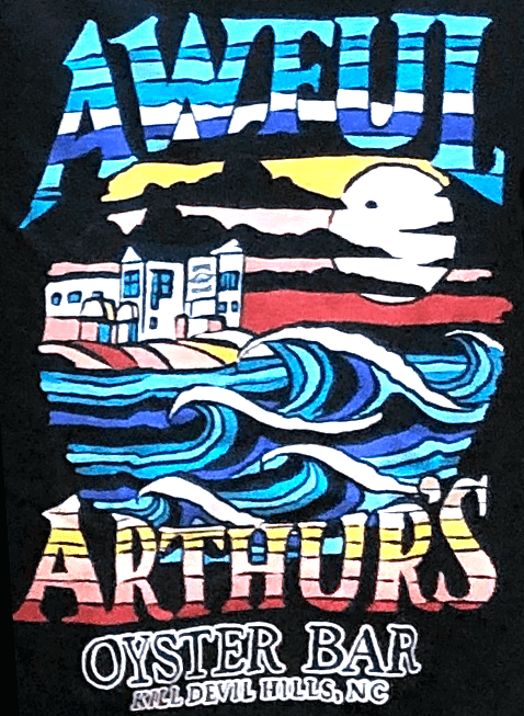 Awful Arthurs Unisex Lined Ocean Graphic Shirt