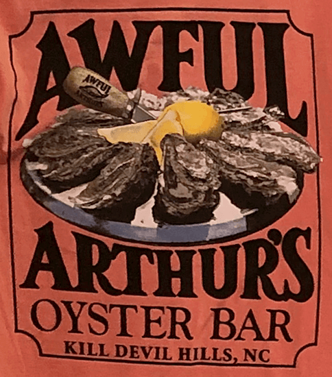 Awful Arthurs Unisex Oyster Array Logo